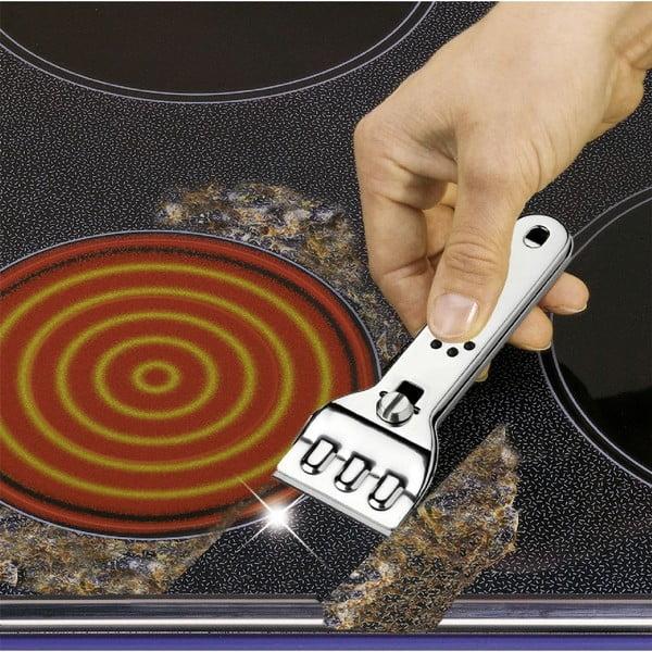 Răzuitor din oțel inoxidabil pentru aragazul cuplacăceramică Wenko Hobbie