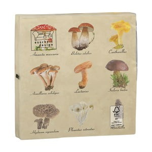 Sada 2 balení ubrousků po 20 kusech Esschert Design Mushroom