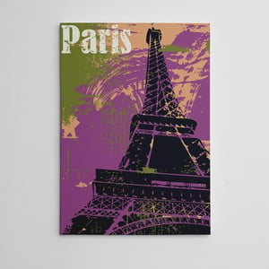 Obraz na plátně Violet Paris, 50x70 cm