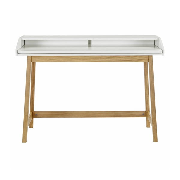 St. James íróasztal, fehér asztallappal - Woodman