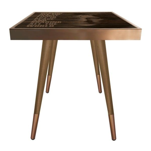 Príručný stolík Caresso John Lennon Square, 45 × 45 cm