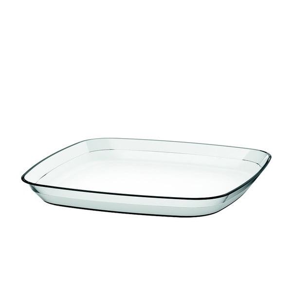Servírovací talíř Venice 24x24 cm, transparentní