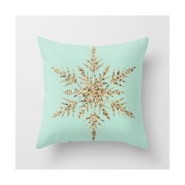 Povlak na polštář Snowflake Blue, 45x45 cm