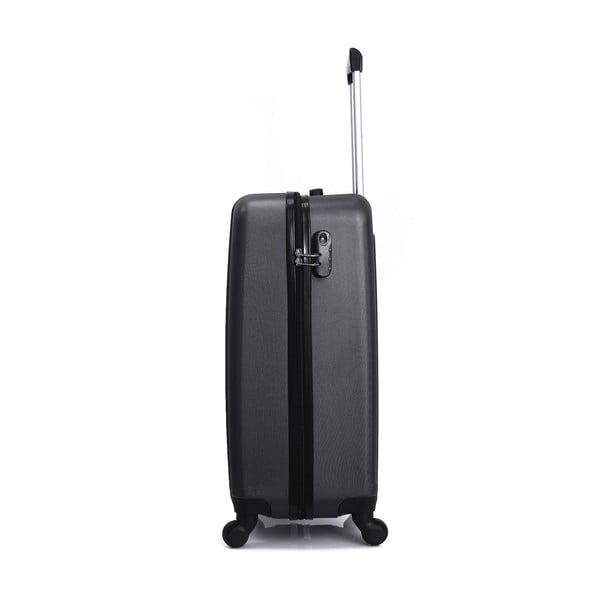 Sada 3 grafitově černých cestovních kufrů na kolečkách Hero Atlanta