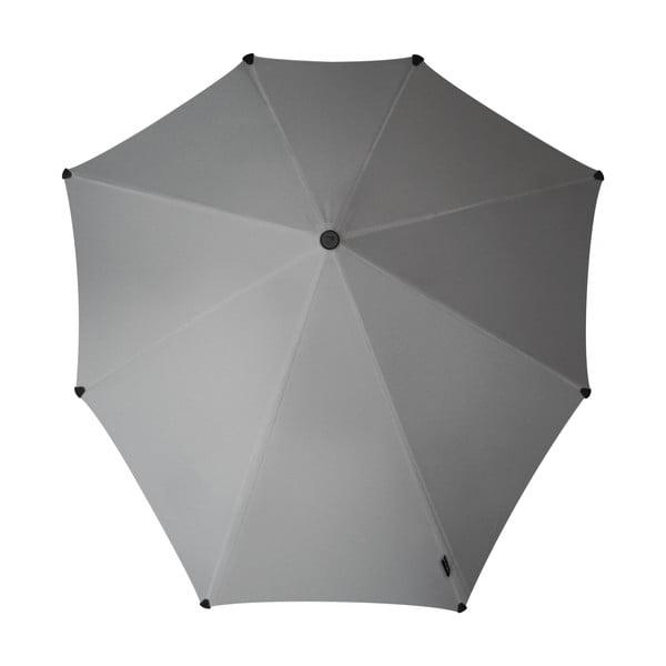Deštník Senz original sparkling silver, odolný vůči větru o rychlosti až 100 km/h