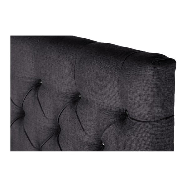 Tmavě šedé čelo postele Stella Cadente Pegaz, 180x118 cm