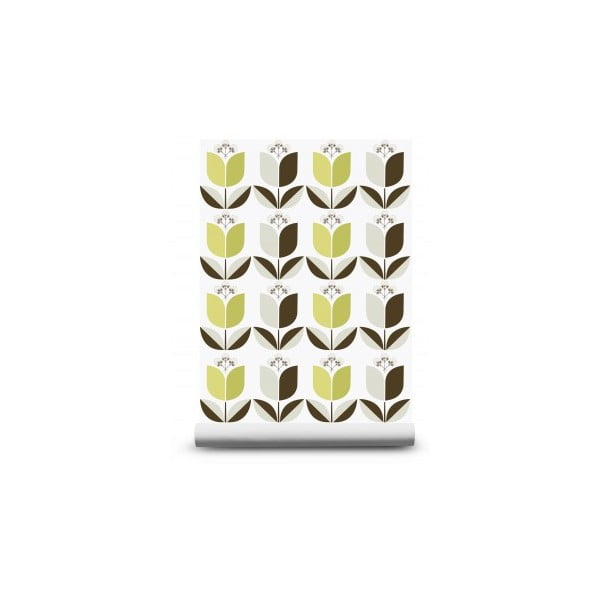 Tapeta Tulip Green, 1000x52 cm
