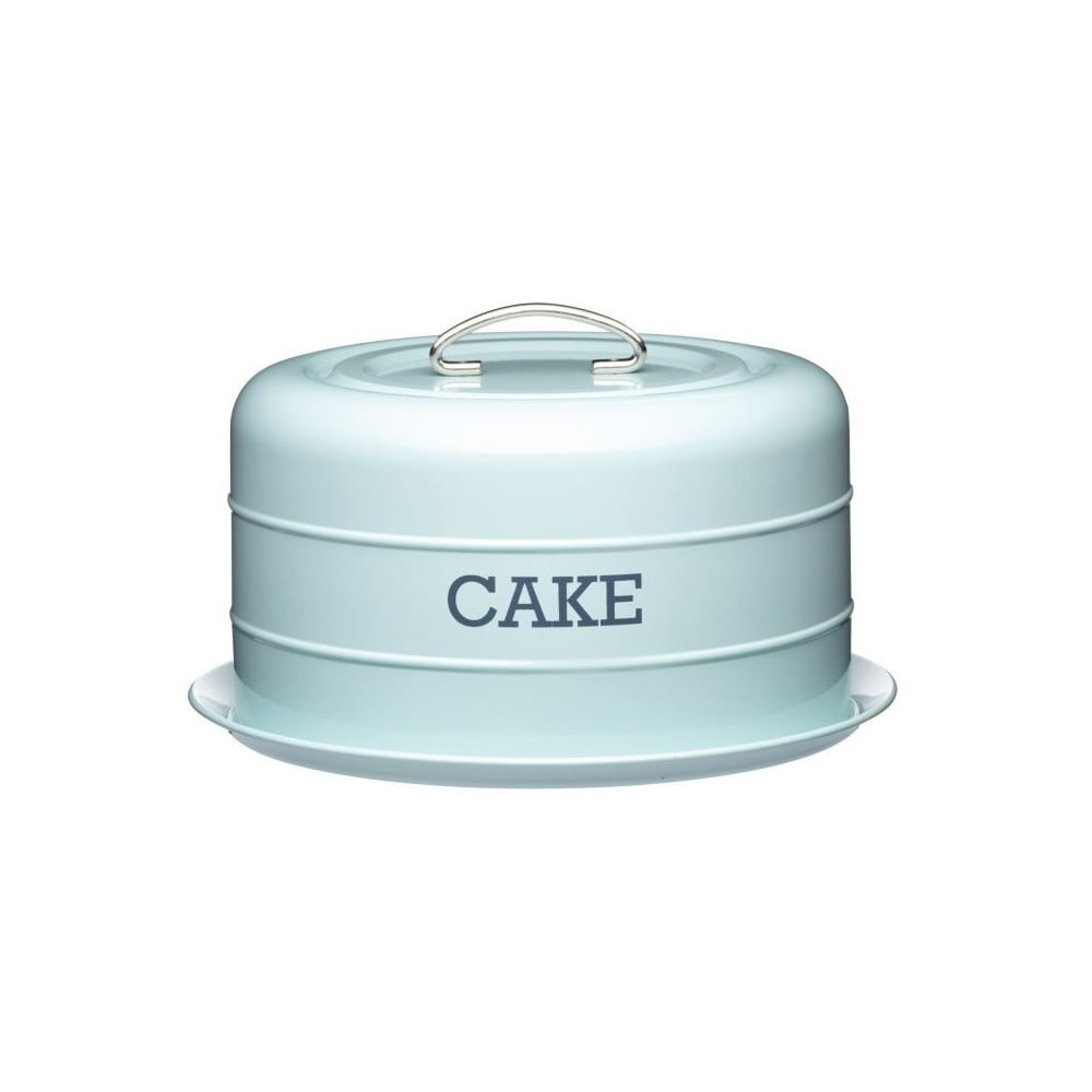 Modrá plechová dóza na koláč Kitchen Craft Nostalgia
