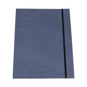 Modré pouzdro na dokumenty s elastickým zapínáním Bigso, A4