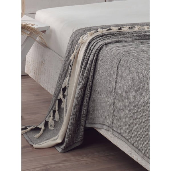Přehoz přes postel Elmas Anthracite, 200x240 cm