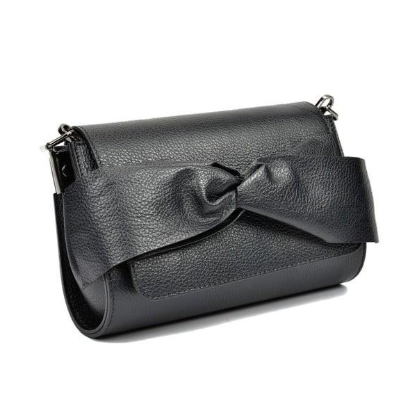 Černá kožená kabelka Anna Luchini Pasella