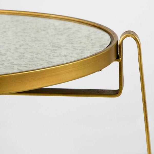 Kovový příruční stolek ve zlaté barvě Thai Natura Pak
