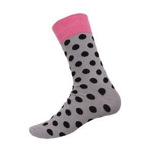 Ponožky Big Dots Grey, velikost 40-44