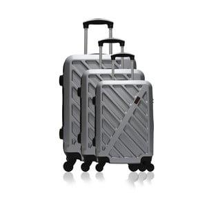 Sada 3 šedých cestovních kufrů na kolečkách Hero Roma