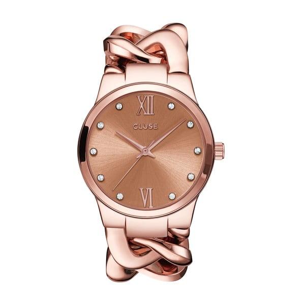 Dámské hodinky Elegante Stone Rose Gold, 38 mm