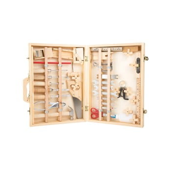 Set unelte și cutie din lemn pentru copii Legler Deluxe de la Legler