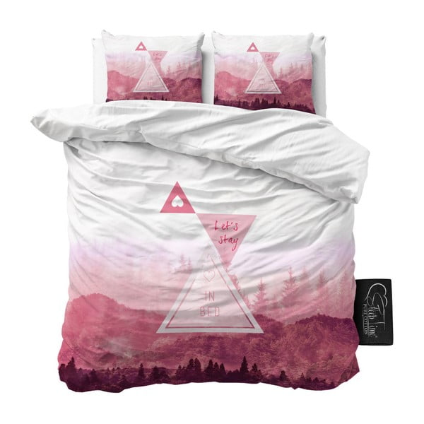 Povlečení z mikroperkálu na jednolůžko Sleeptime Let's Stay,160x200cm