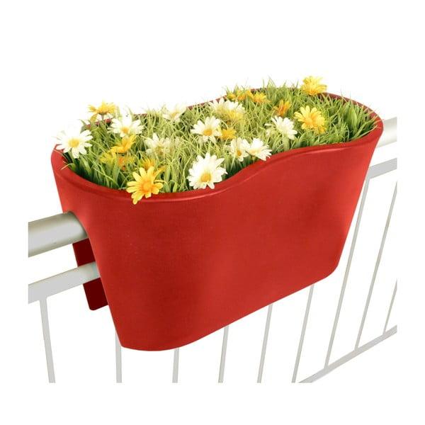 Květináč Steckling Duo, červený