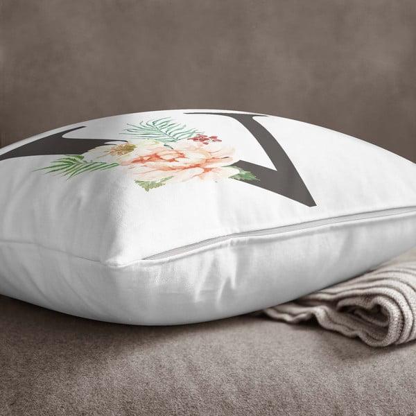 Față de pernă Minimalist Cushion Covers Floral Alphabet V, 45 x 45 cm
