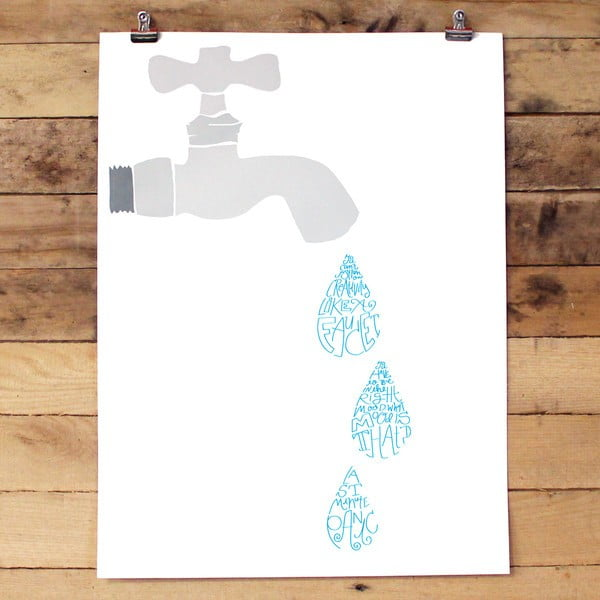 Plakát Creative Fuacet, 61x46 cm