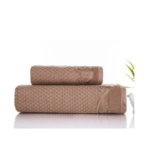 Sada 2 ručníků Acustic Mink, 50x90 cm a 70x140 cm