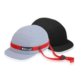 Cyklistická přilba Krust grey/red/black s náhradní čepičkou, velikost S
