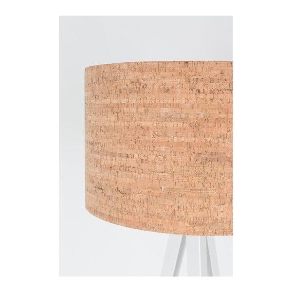 Bílá stojací lampa Zuiver Tripod Cork