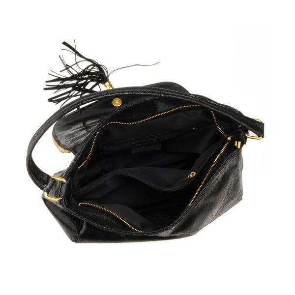 Kožená kabelka Diadema, černá