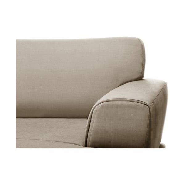 Béžová rohová pohovka s lenoškou na levé straně L'Officiel Interiors Kendall