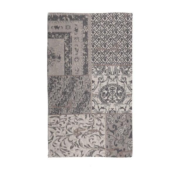 Koberec Chenille, 70x110 cm, šedo-béžový