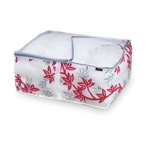 Červenobílý úložný box na peřny Domopak Living, vel. L