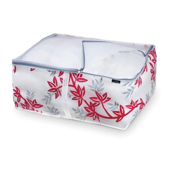 Czerwono-biały pojemnik na kołdrę Domopak Living, dł. 55cm