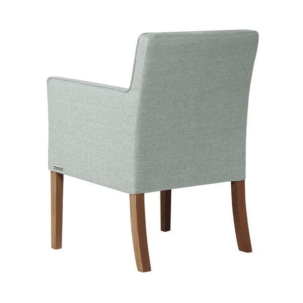 Světle zelená židle s tmavě hnědými nohami z bukového dřeva Ted Lapidus Maison Freesia