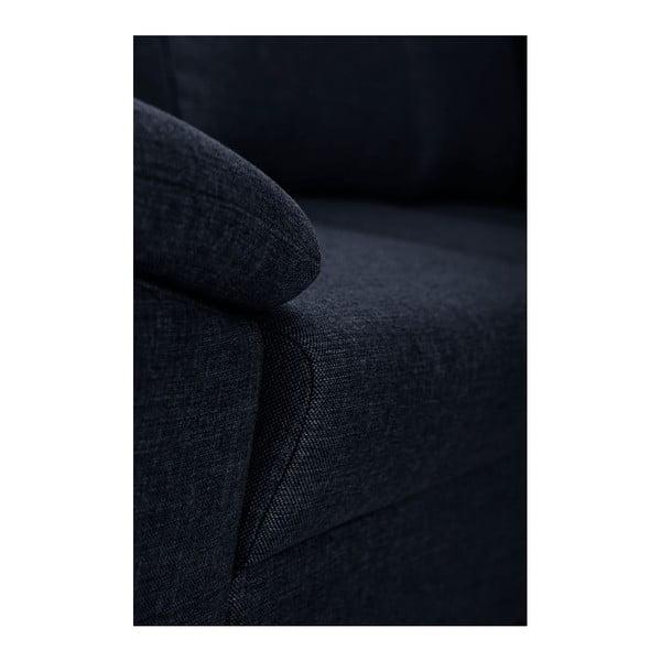 Tmavě modrá pohovka Florenzzi Savasta s lenoškou na pravé straně