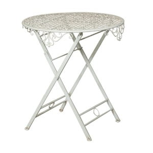 Skládací zahradní železný stolek Crido Consulting Biscottini Vintage