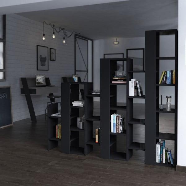 Antracitová knihovna Homitis Lift