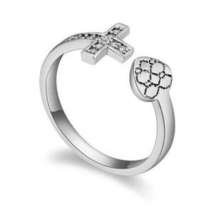 Prsten s krystaly Swarovski Fuerza, velikost 52
