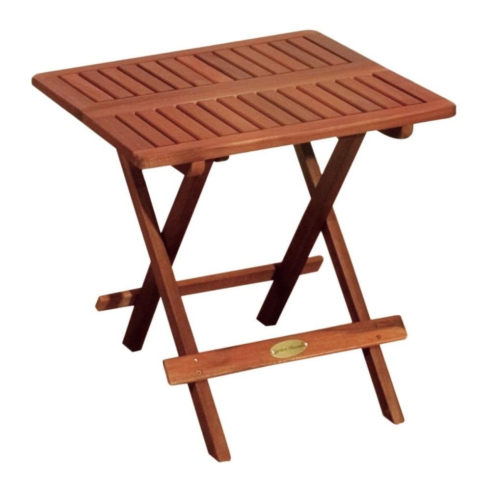 Zahradní skládací odkládací stolek z eukalyptového dřeva ADDU Los Angeles
