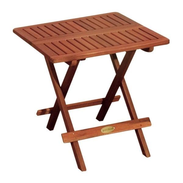 Záhradný skladací odkladací stolík z eukalyptového dreva ADDU Los Angeles