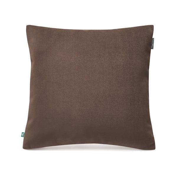 Hnědý povlak na polštář sametovým povrchem Mumla Velvet, 45 x 45 cm