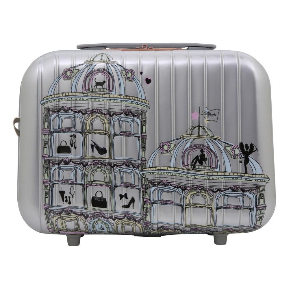 Příruční kufr ve stříbrné barvě LULU CASTAGNETTE Town, 17l