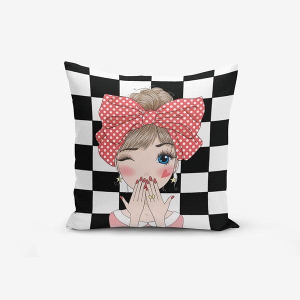 Damali Fashion Girl Modern pamutkeverék párnahuzat, 45 x 45 cm - Minimalist Cushion Covers