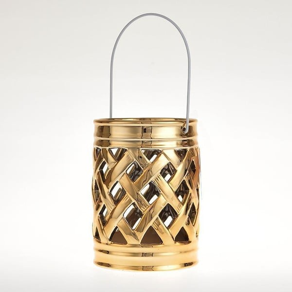 Keramická lucerna Gold Deco