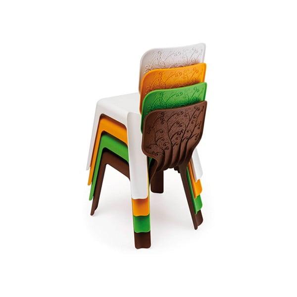 Dětslá bílá stohovatelná židle Magis Alma