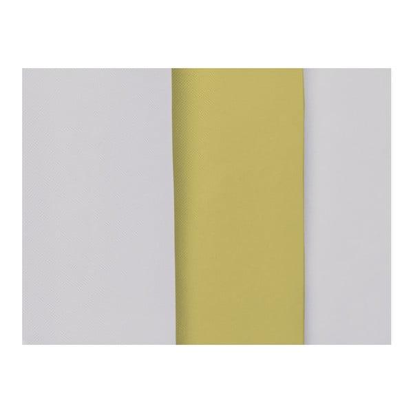 Šedo-žluté čelo postele Mazzini Sofas Dahlia, 120 x 140 cm