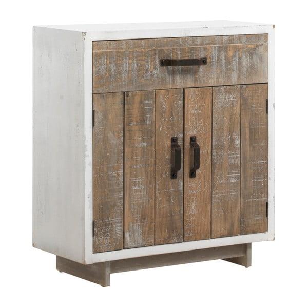 Bílá dvoudveřová komoda se zásuvkou Geese Rustic