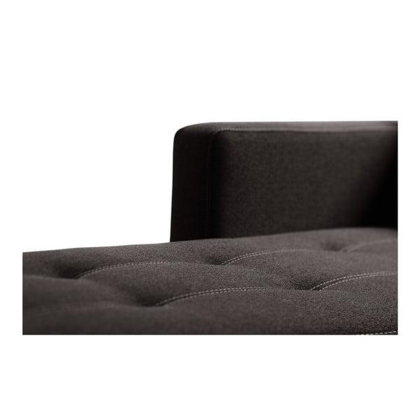 Tmavě hnědá sedačka Interieur De Famille Paris Succes, levý roh