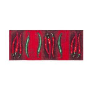 Vysoce odolný kuchyňský koberec Floorita Peperoncini,60 x 110cm