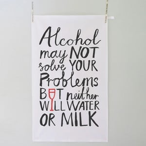 Utěrka Karin Åkesson Design Alcohol Problems, 48x78 cm