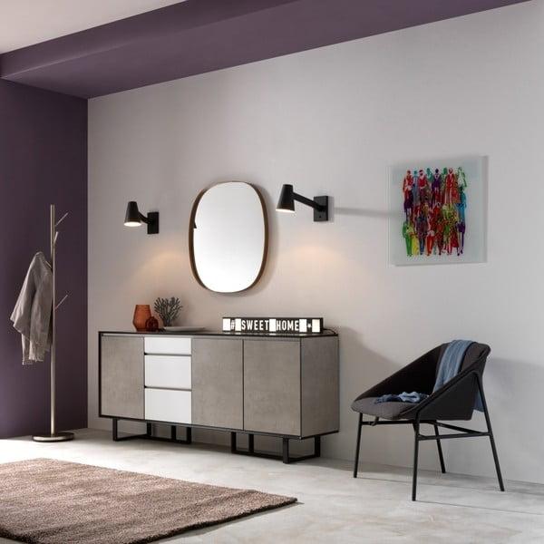 Černá nástěnné svtítidlo Design Twist Fahy